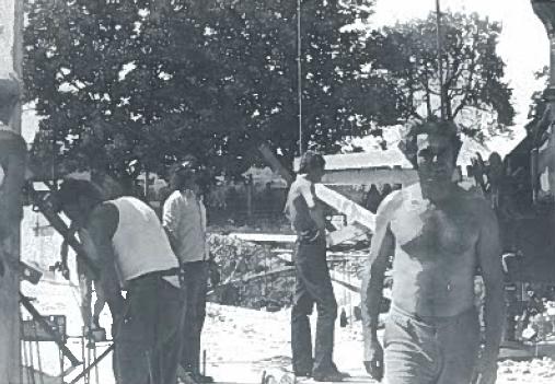 """Beginn der Bauarbeiten am Vereinsheim """"Binswanger Mühle"""""""